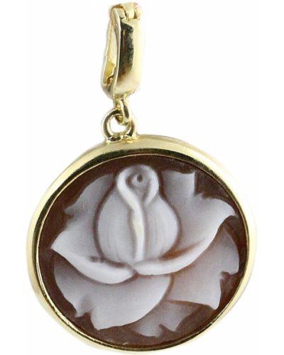 Золотая подвеска серебряный с агатом Jewelry Box