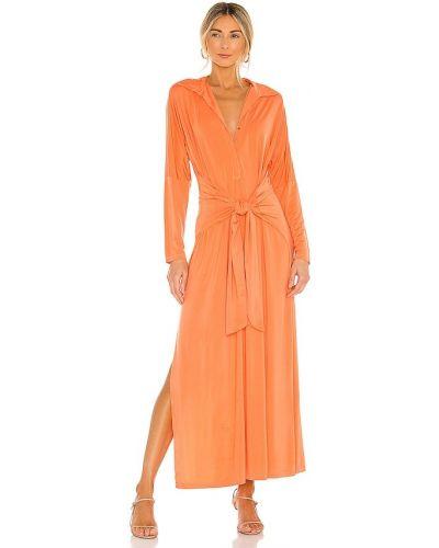Текстильное облегающее оранжевое платье Yfb Clothing