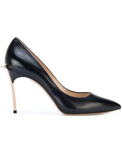 Туфли на высоком каблуке с бантом кожаные на шпильке Casadei
