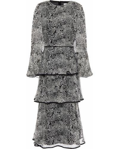 Черное платье миди с подкладкой на крючках Mikael Aghal