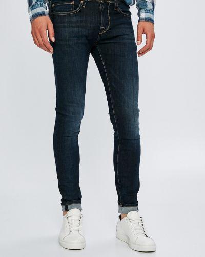 Джинсы-скинни на пуговицах с нашивками Pepe Jeans