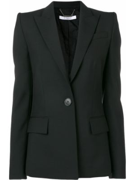 Приталенный черный пиджак с карманами на пуговицах Givenchy
