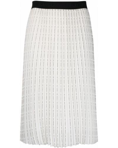 Czarna spódnica z wysokim stanem z printem Karl Lagerfeld
