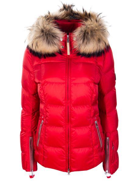 Красный с рукавами спортивный костюм с карманами на молнии Bogner