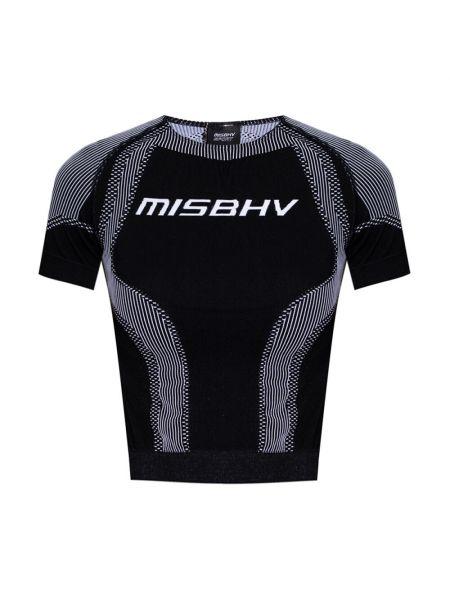 Czarna koszulka sportowa Misbhv