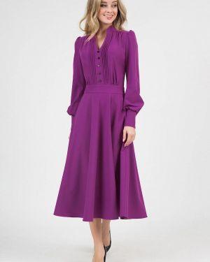Повседневное платье осеннее фиолетовый Marichuell