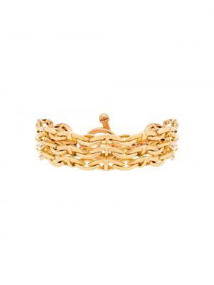 Żółta złota bransoletka ze złota pozłacana Brinker & Eliza