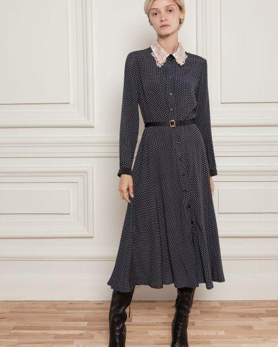 Платье в горошек - черное Dolcedonna
