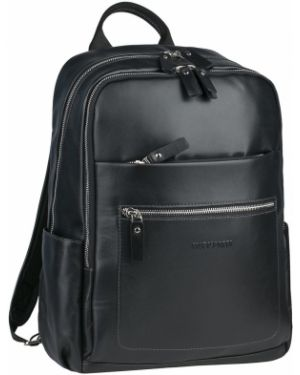 Кожаный рюкзак на бретелях с карманами на молнии Franchesco Mariscotti