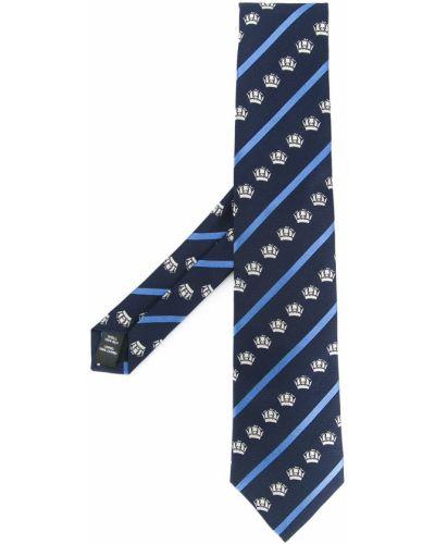 Jedwab niebieski gumka do włosów z obrazem Gieves & Hawkes