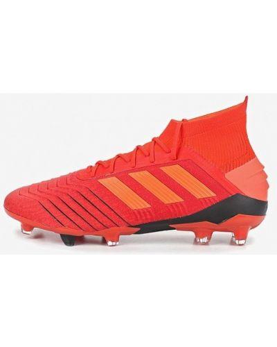 Бутсы текстильный красный Adidas