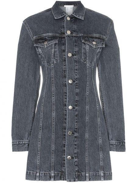 Платье мини джинсовое на пуговицах Helmut Lang
