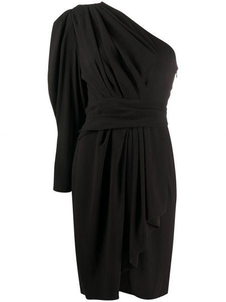Платье мини с драпировкой черное Iro