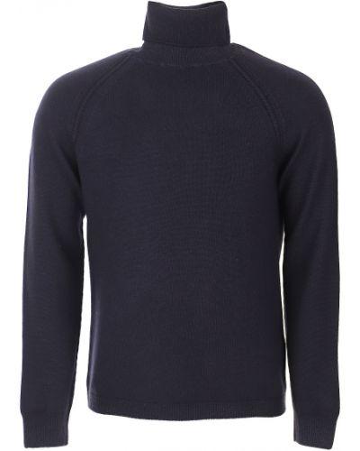 Prążkowany długi sweter wełniany z długimi rękawami Paolo Pecora
