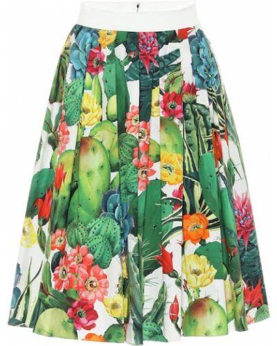Spódnica midi bawełniana Dolce And Gabbana