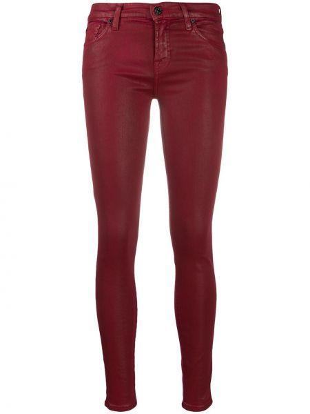 Классические хлопковые красные джинсы на молнии 7 For All Mankind