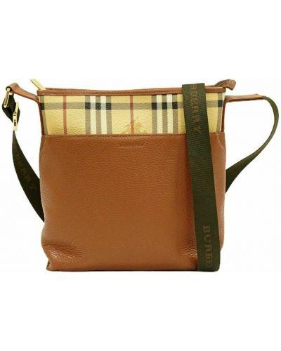 Brązowa torba na ramię Burberry Vintage
