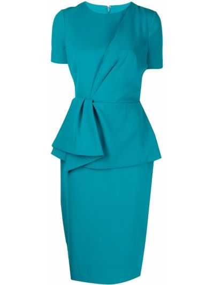 Платье мини короткое - синее Badgley Mischka