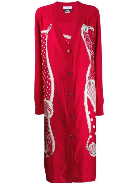 Свободное красное шерстяное пальто Monse