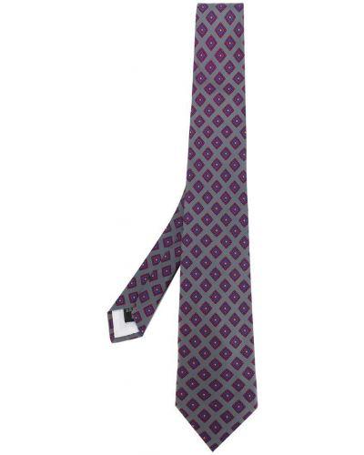 Галстук шелковый серый Guy Laroche Vintage