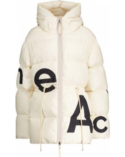 Пуховая белая дутая куртка Acne Studios