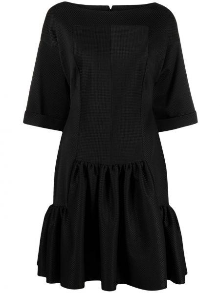 Платье мини в клетку - черное Talbot Runhof
