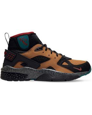 Кожаные кроссовки высокие с перфорацией Nike
