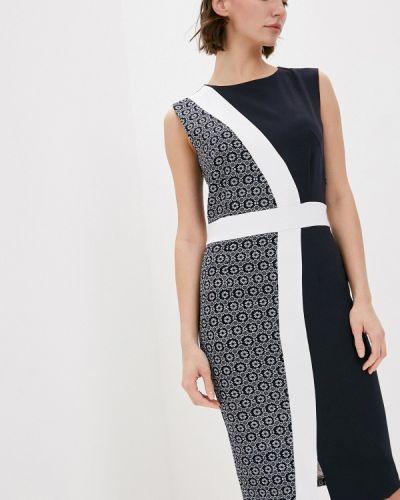 Платье футляр - синее Adzhedo