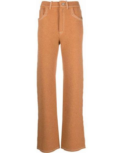 Brązowe spodnie z paskiem Barrie