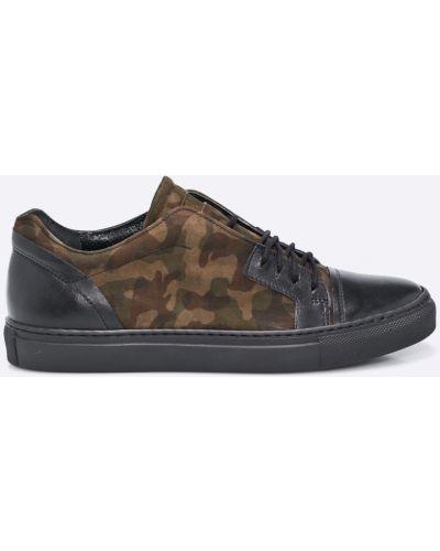 Кожаные кроссовки на шнуровке Domeno