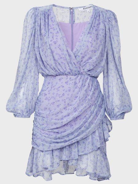 Платье на молнии - фиолетовое Elliatt