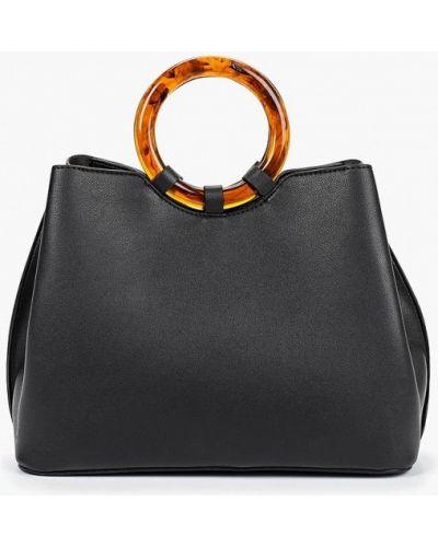 Кожаный сумка с ручками черная Dorothy Perkins