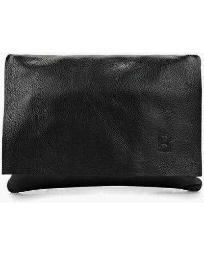 Кожаная сумка через плечо черная Roberto Buono