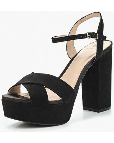 Черные босоножки на каблуке Ekonika