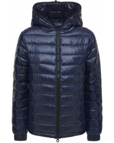 Куртка с капюшоном - синяя Duvetica