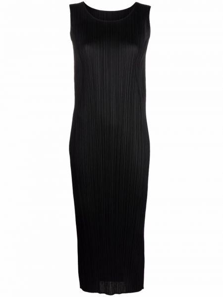 Платье миди - черное Pleats Please Issey Miyake