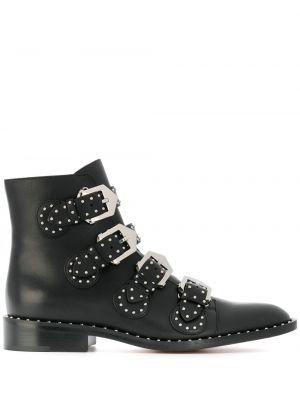 Wysoki buty mieszkanie czarne Givenchy