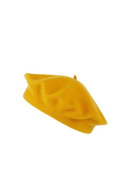 Żółty beret wełniany Loevenich