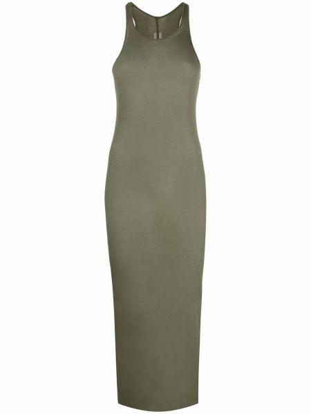 Sukienka bawełniana - zielona Rick Owens