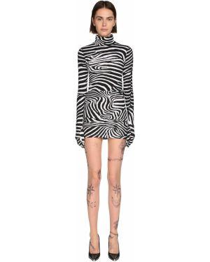 Платье мини макси с кружевными рукавами Vetements