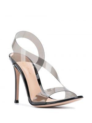 Босоножки на каблуке - черные Gianvito Rossi