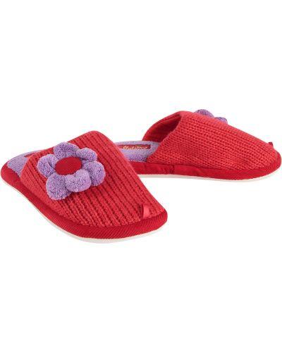 Тапочки красные Lamaliboo