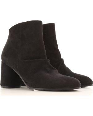 Buty zamszowe czarne Elvio Zanon