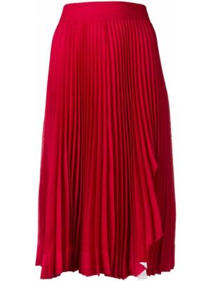 Шелковая юбка миди - красная Calvin Klein 205w39nyc