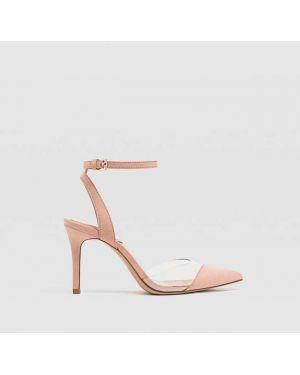 Туфли на каблуке виниловый Stradivarius