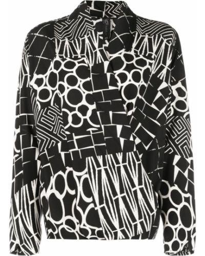 Блузка с длинным рукавом прямая черная Zero + Maria Cornejo