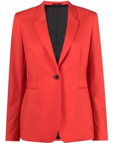 Однобортный красный классический пиджак с карманами Paul Smith