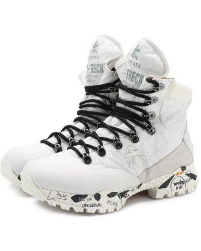 Ботинки на шнуровке текстильные Premiata
