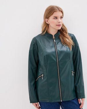 Кожаная куртка - зеленая Jp