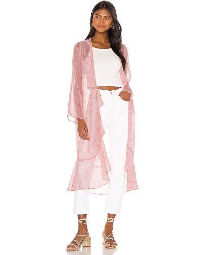 Текстильный розовый халат в полоску Privacy Please